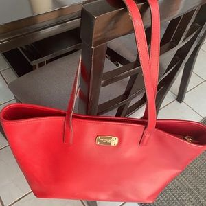 Michael Kors Red Tote Bag